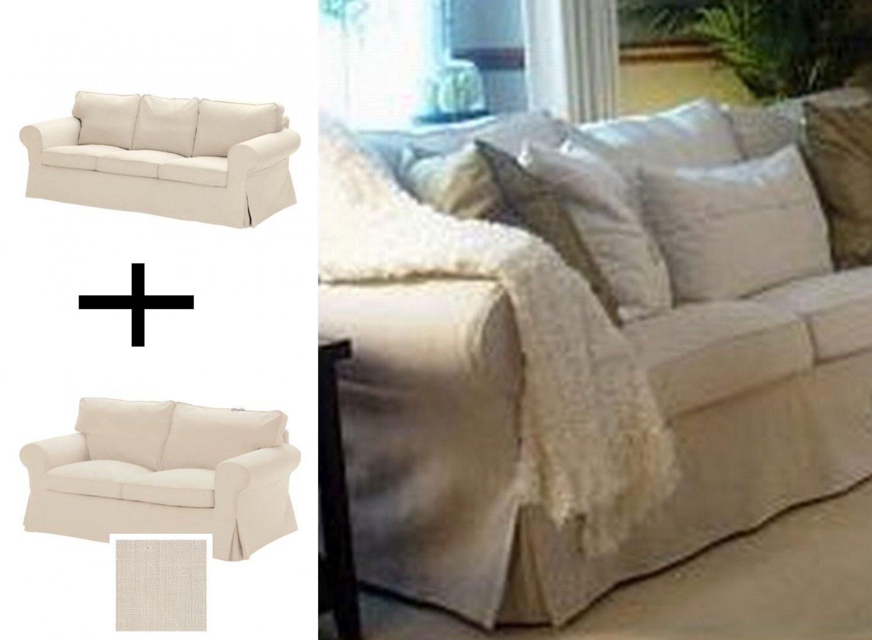 IKEA EKTORP 3 Seat Sofa AND 2 Seat Loveseat Sofa SLIPCOVER