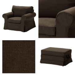 Ikea Chair With Ottoman Gaming Chairs For Sale Ektorp Armchair And Bromma Footstool Cover
