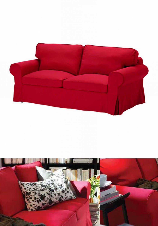 2 seater sofa covers australia grey rattan garden set ikea ektorp seat loveseat cover slipcover idemo red