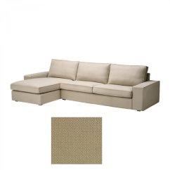Sofa W Chaise Narrow Double Bed Ikea Kivik 3 Seat Longue Slipcover Cover
