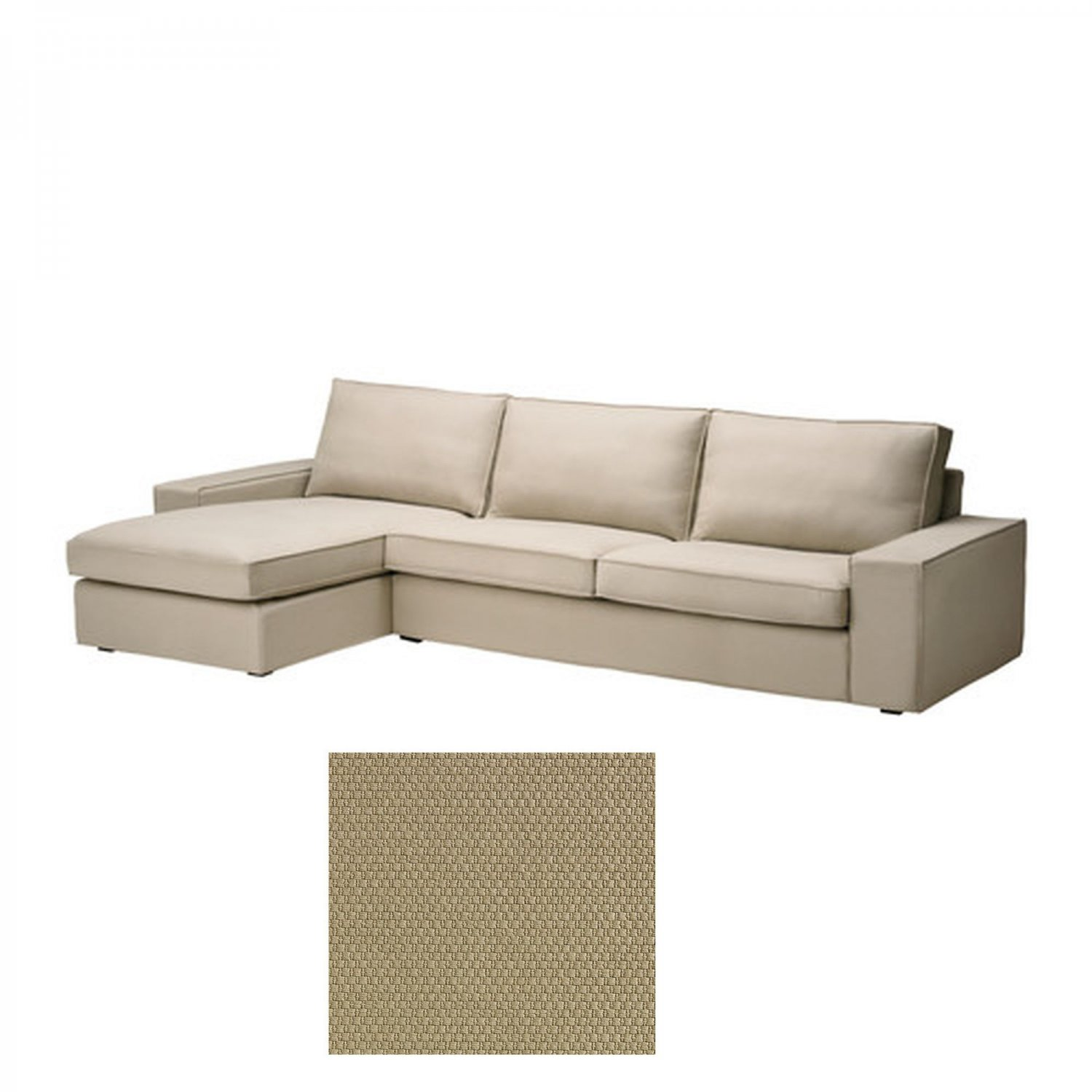 kivik sofa chaise country french bed ikea 3 seat w longue slipcover cover