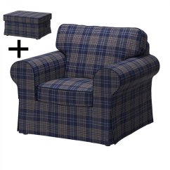 Ikea Club Chair Covers Design Plastic Ektorp Armchair And Footstool Cover Ottoman