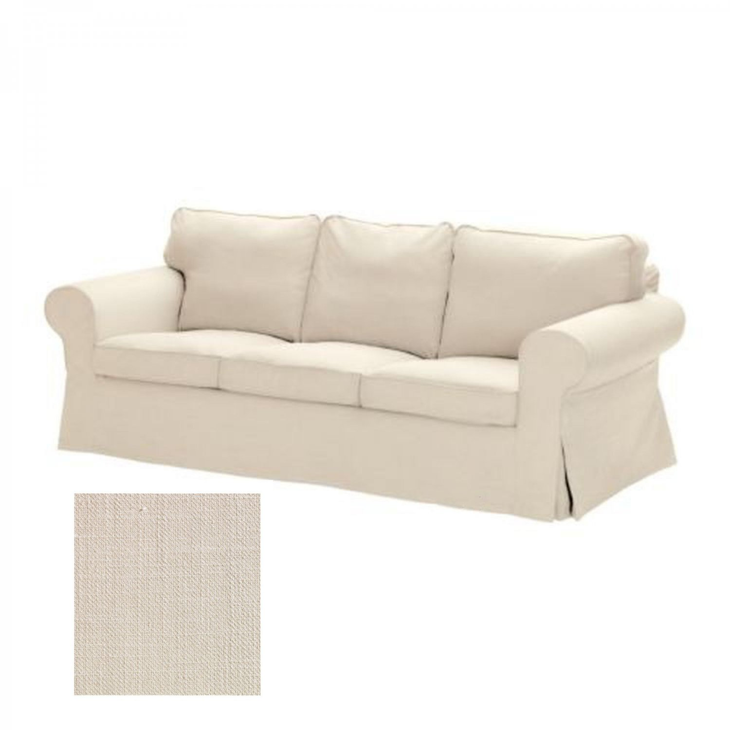 ikea karlanda sofa covers uk white leather sofas and loveseats ektorp 3 seat slipcover cover svanby beige linen