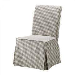 Dining Chair Covers Grey White With Ottoman Ikea Henriksdal Slipcover Cover Skirted Sagmyra Gray