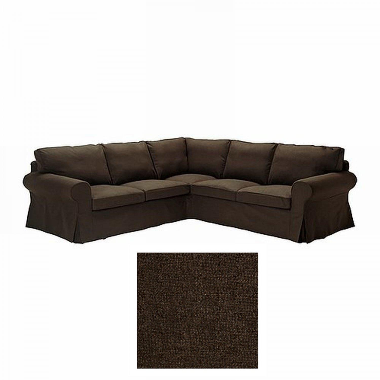 IKEA Ektorp 22 Corner Sofa COVER Slipcover SVANBY BROWN