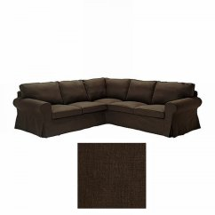 Ikea Karlanda Sofa Covers Uk Leather Sectional Sleeper Ektorp 2 432 Corner Cover Slipcover Svanby Brown