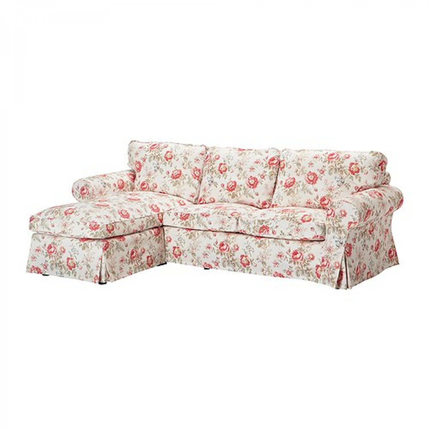 IKEA Ektorp Loveseat Sofa With Chaise COVER Slipcover