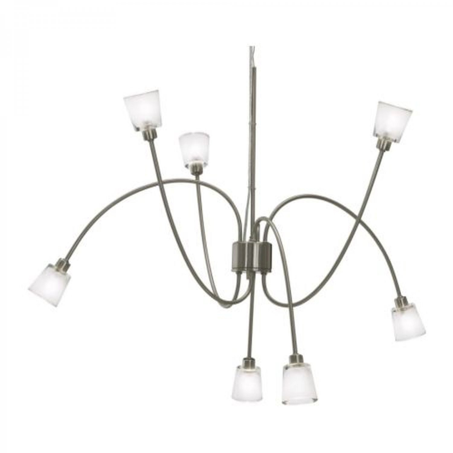 Ikea Kryssbo Chandelier Light Pendant Lamp Glass Nickel