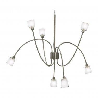 IKEA KRYSSBO Chandelier Light PENDANT LAMP Glass NICKEL