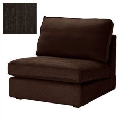 Brown Chair Covers How Much Should Cost Ikea Kivik 1 Seat Sofa Slipcover Cover Tullinge Dark