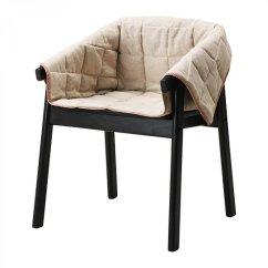 Linen Dining Chair Covers Australia Revolving Cad Block Ikea Esbjorn Slipcover Armchair Cover Natural Beige