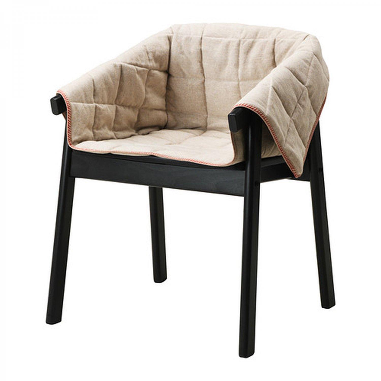 ikea linen chair covers folding karaoke esbjorn slipcover armchair cover natural beige
