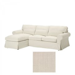 Off White Slipcover Sofa Convertible Bed Pozzi Ikea Ektorp Loveseat With Chaise Cover