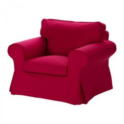 Chair Covers Cowhide Leather And Ottoman Ikea Ektorp Armchair Slipcover Cover Idemo Red New