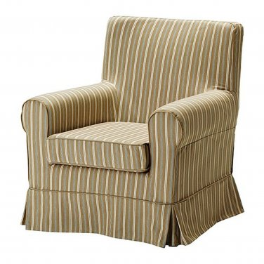 ikea jennylund chair covers uk wheelchair mobility ektorp armchair slipcover cover linghem light brown stripe