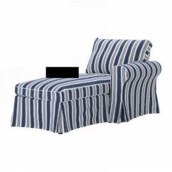 Blue Striped Sofa Uk Interio Bettsofa Madison Ikea Ektorp Right Hand Chaise Longue Slipcover Cover