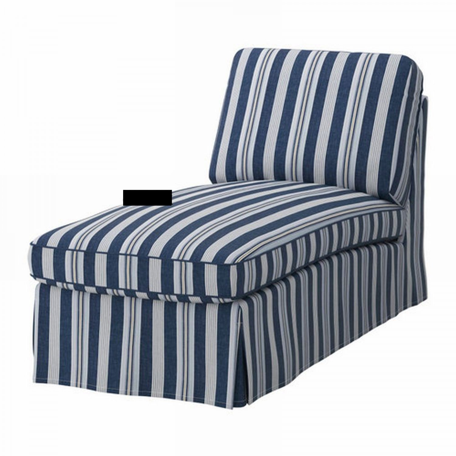 blue striped sofa uk clean leather at home ikea ektorp free standing chaise cover slipcover abyn