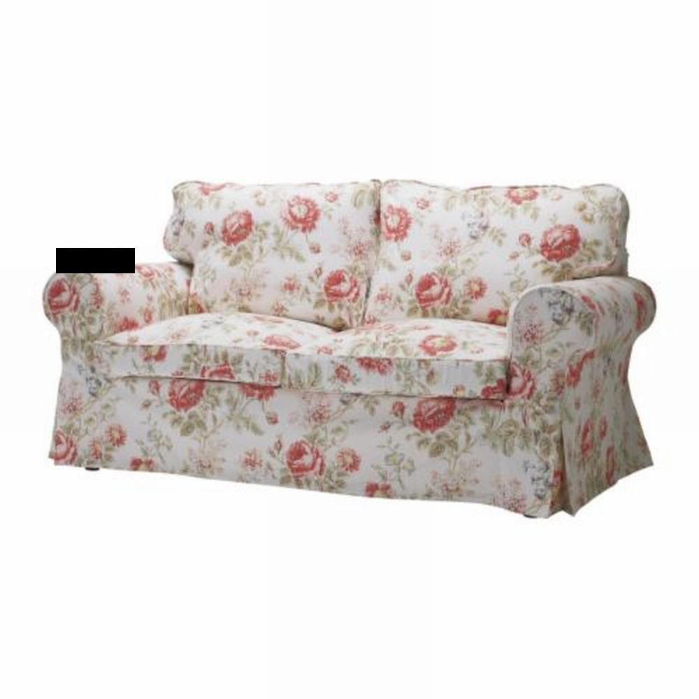 2 seater sofa covers australia behind console ikea ektorp bed slipcover cover byvik multi floral ...
