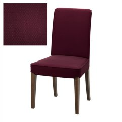 Ikea Velcro Chair Covers High Top Table Set Henriksdal Slipcover Cover 21 Quot 54cm Dansbo Red