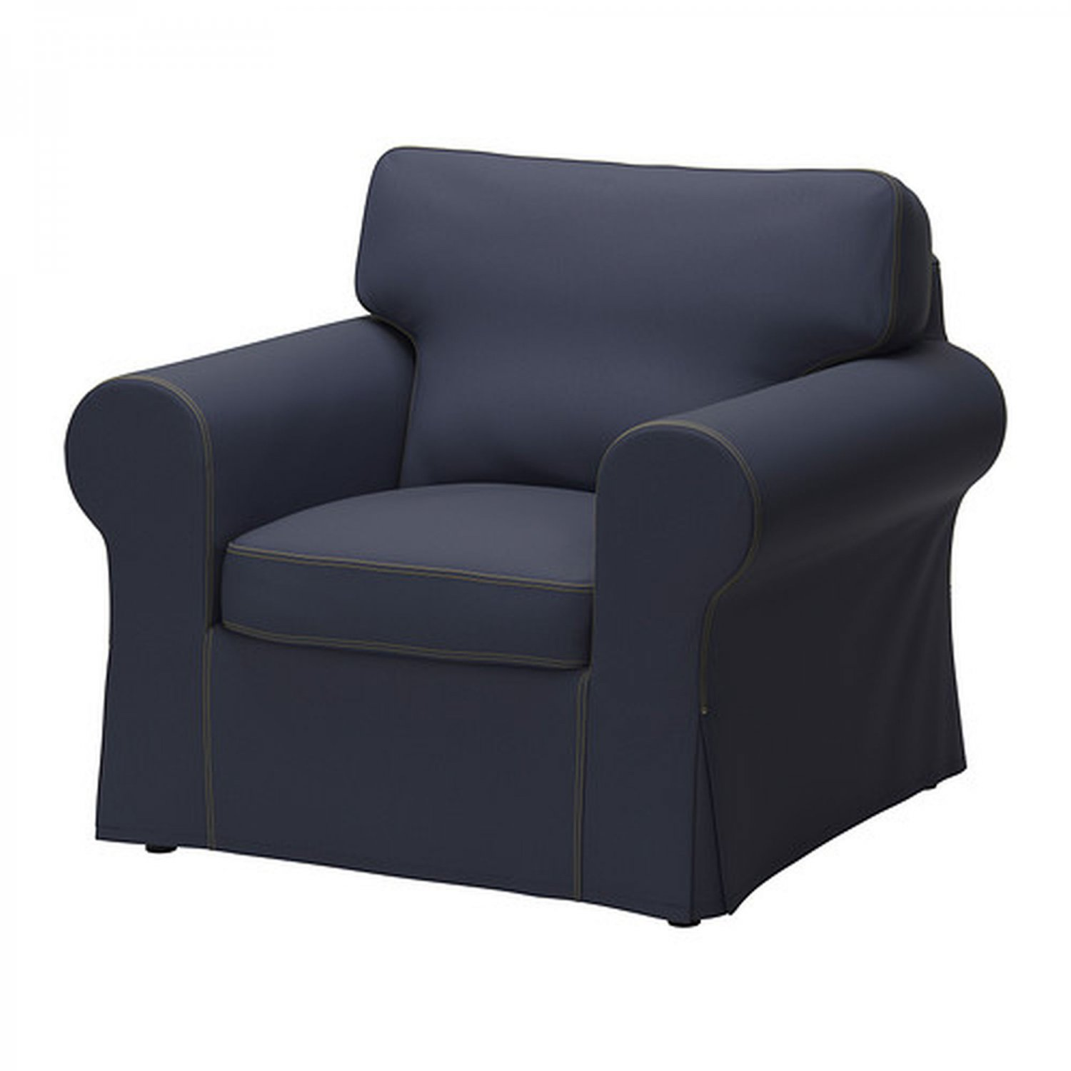 ikea tullsta chair covers uk mat for under high ektorp armchair cover slipcover jonsboda blue denim