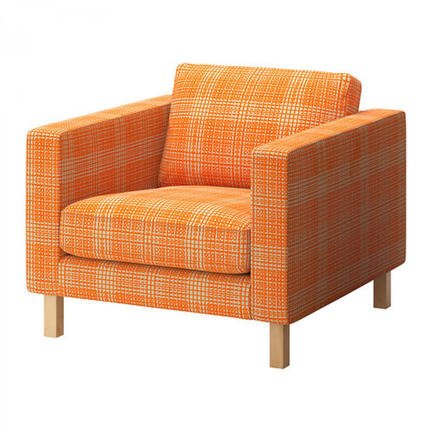 ikea karlstad chair reupholstering a armchair slipcover cover husie orange
