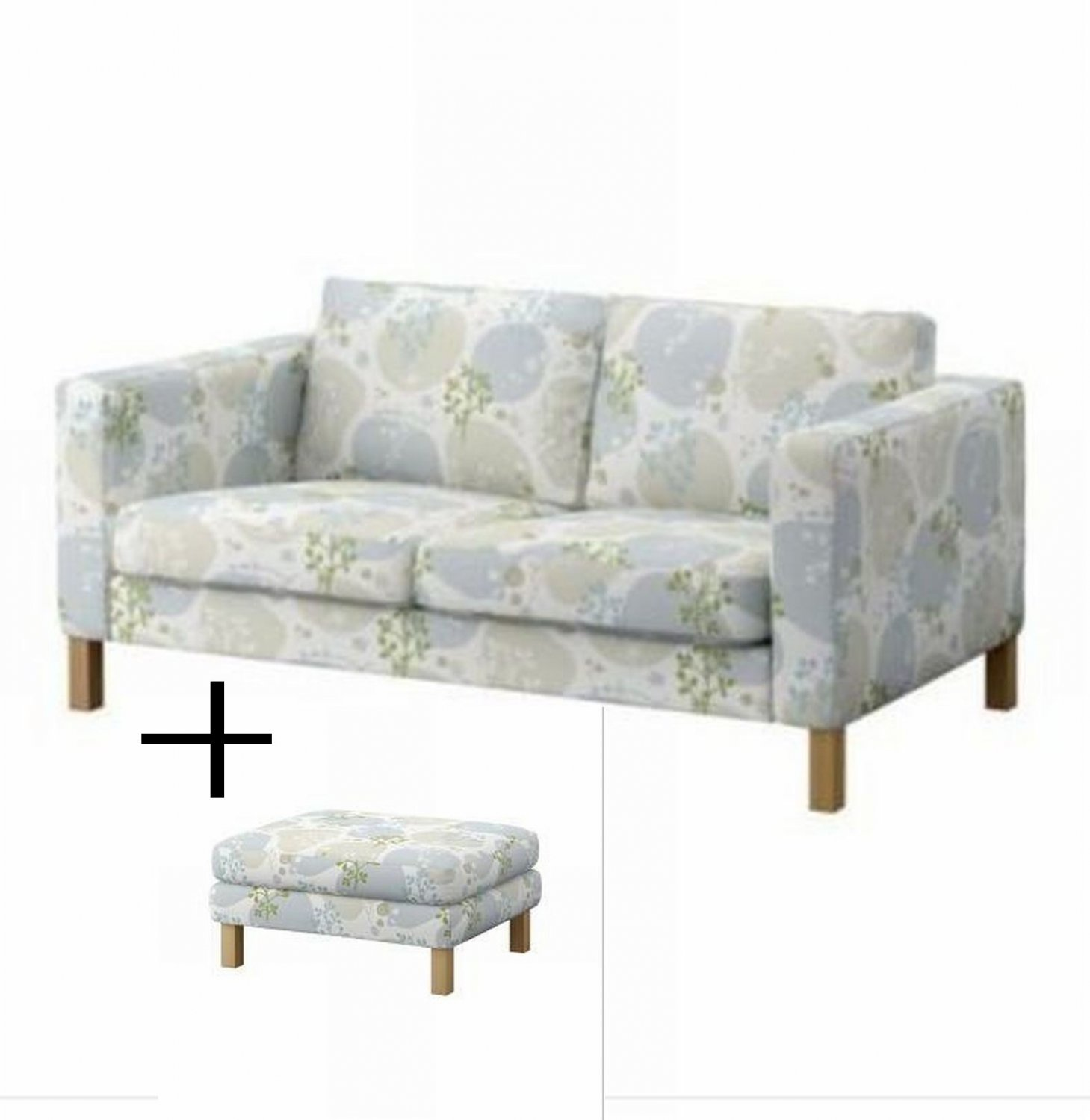 karlstad sofa cover uk affordable sets ikea 2 seat and footstool slipcovers