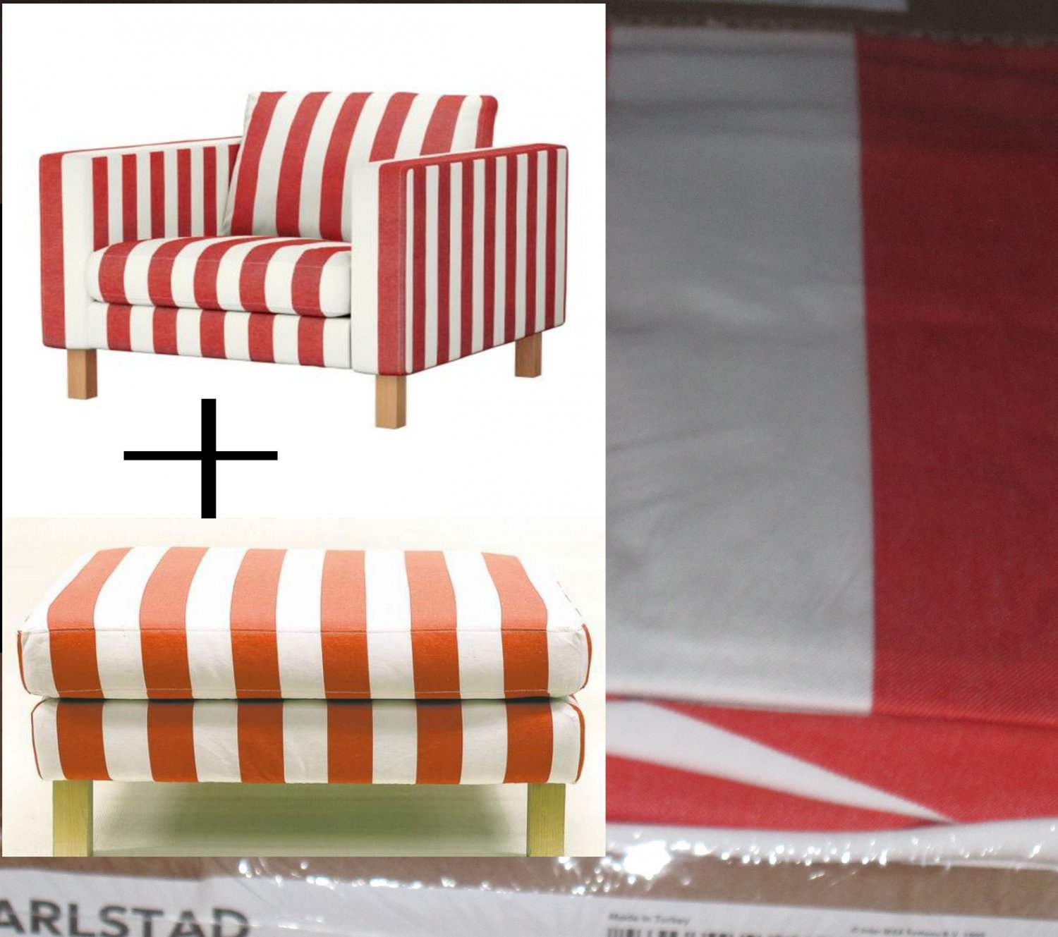 karlstad armchair cover uk stackable chairs ikea and footstool slipcover chair