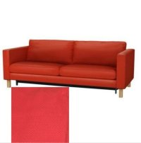 Ikea KARLSTAD Sofa Bed Sofabed SLIPCOVER Cover KORNDAL RED ...