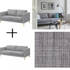 Linen Bench Cushion Sofa Pune Ikea Karlstad And Loveseat Slipcover Cover Isunda