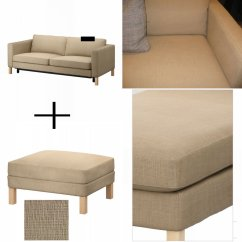 Karlstad Sofa Cover Uk Bed Couch Canada Ikea And Footstool Slipcover Sofabed