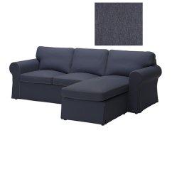 2 Seater Sofa Covers Australia Dollhouse Ikea Ektorp Loveseat And Chaise Slipcover Seat W