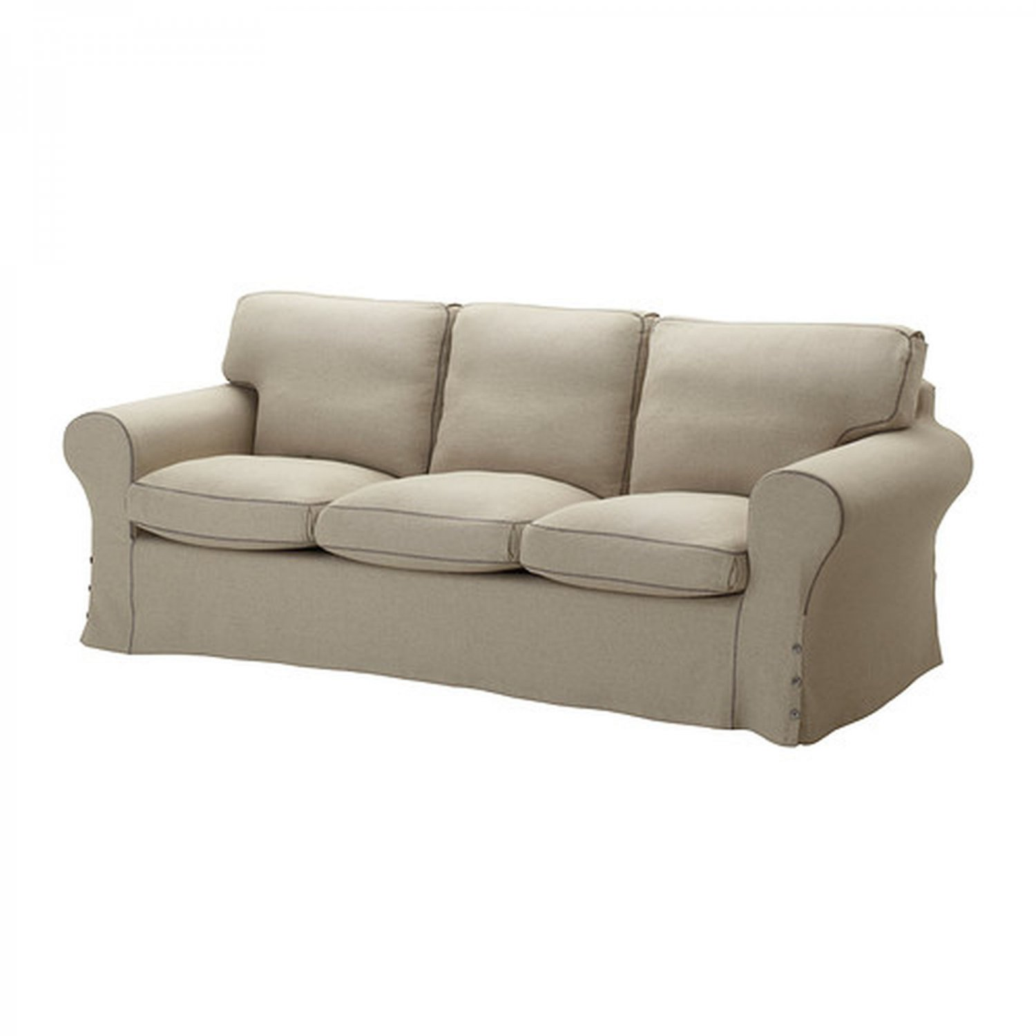 linen bench cushion sofa fundas sofas y sillones el corte ingles ikea ektorp 3 seat slipcover cover risane natural