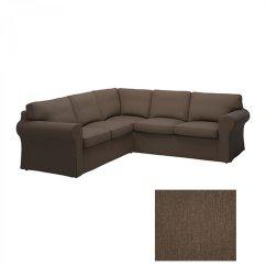Ikea Sectional Sofa Covers French Style Set Ektorp 2 432 Corner Cover Slipcover Jonsboda Brown