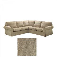 Corner Sofa Cover Uk Singer Olivia Fabric Set Ikea Ektorp 2 432 Slipcover Vellinge Beige
