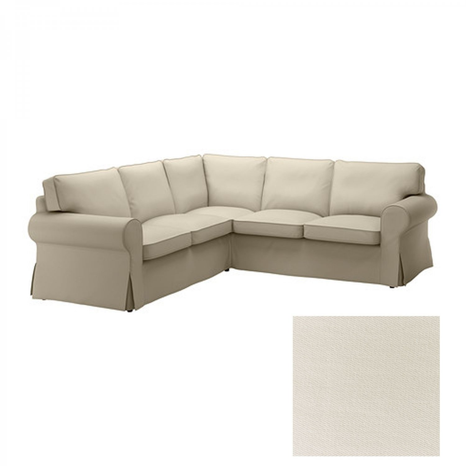sofa slipcover ikea chaisson contemporary bonded leather sectional with chaise ektorp 2 432 corner cover tygelsjo light