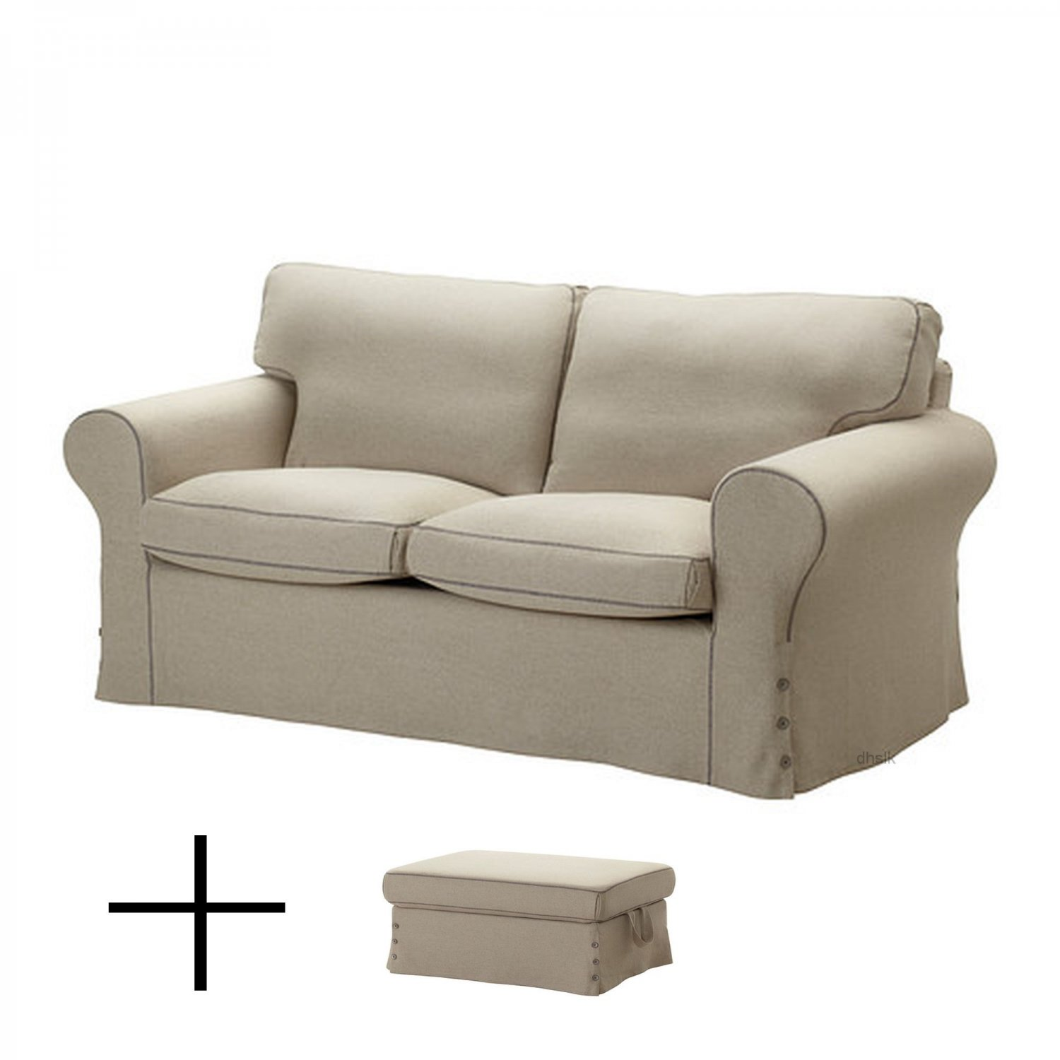 ikea karlanda sofa covers uk rowe slipcover ektorp 2 seat and footstool slipcovers loveseat