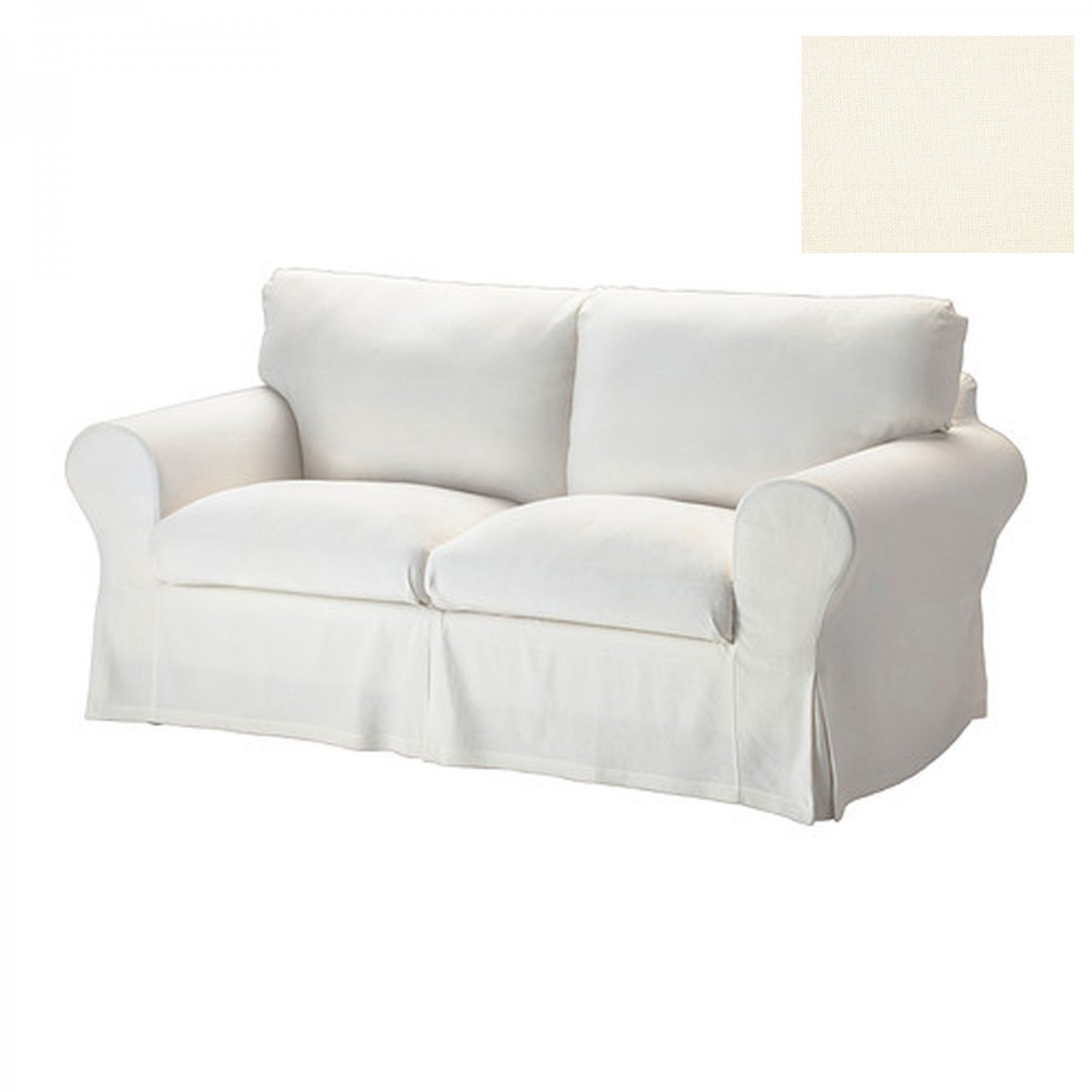 off white slipcover sofa cream leather corner dfs ikea ektorp 2 seat loveseat cover stenasa