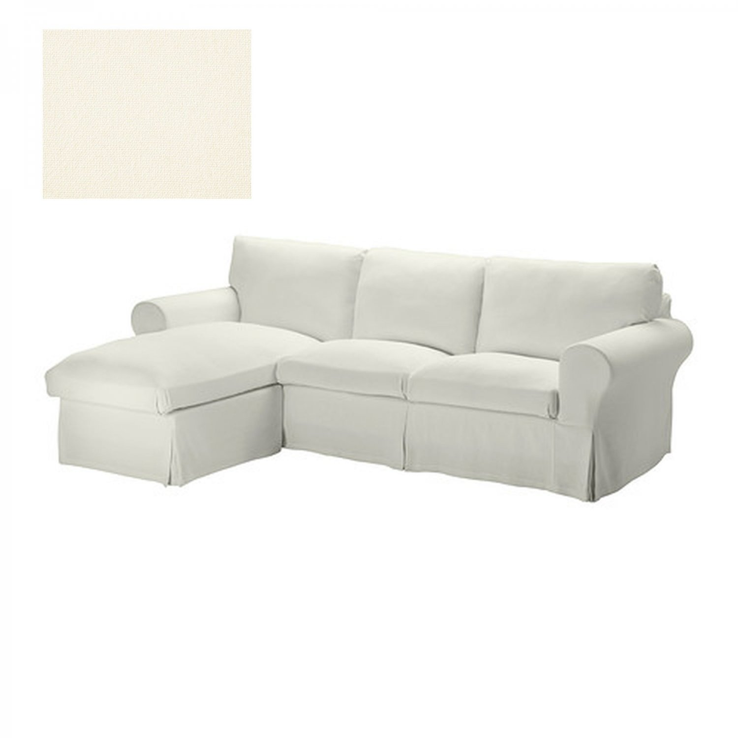 ikea karlanda sofa covers uk recamier history ektorp loveseat w chaise slipcover 3 seat