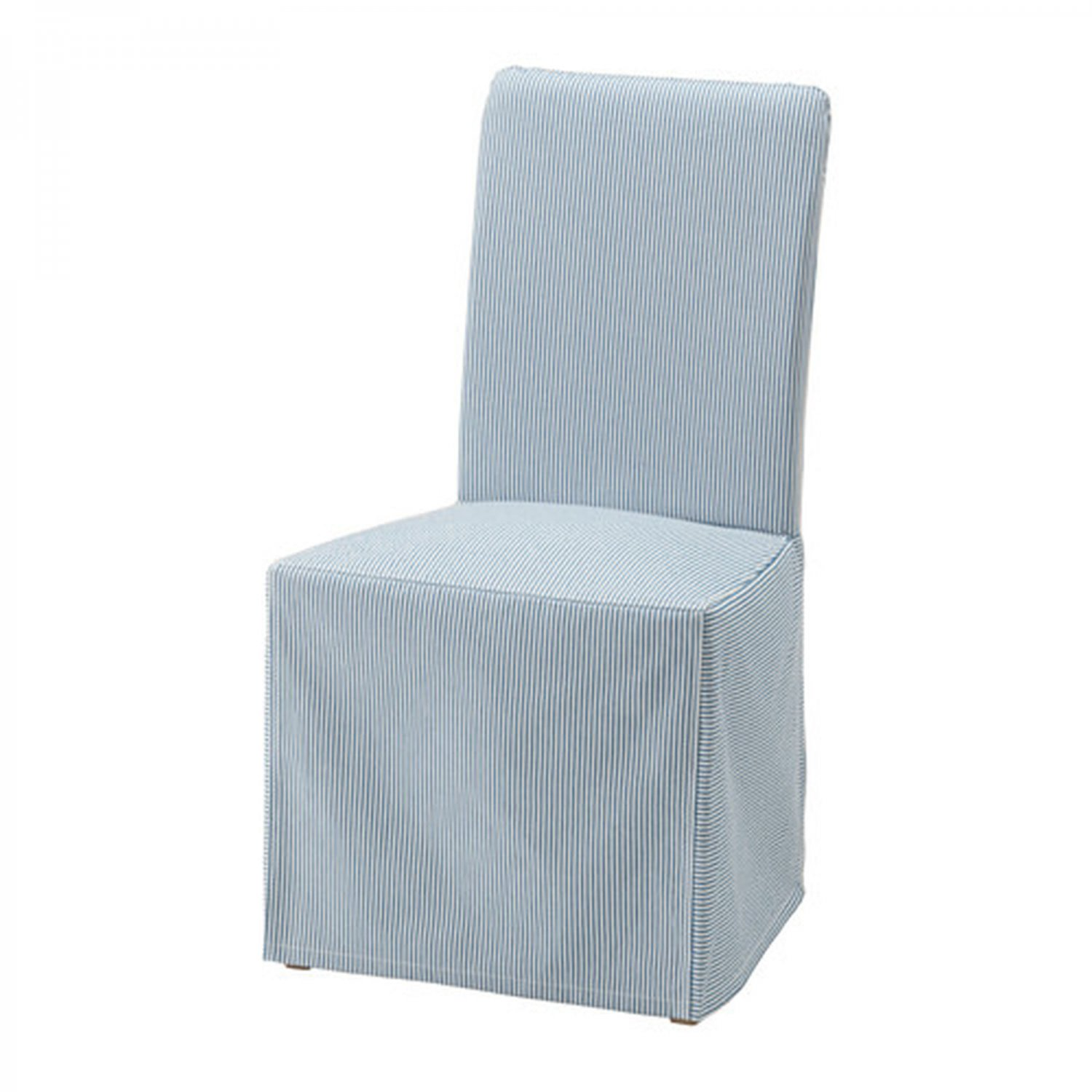 pale blue chair covers massage bed ikea henriksdal slipcover cover skirted remvallen