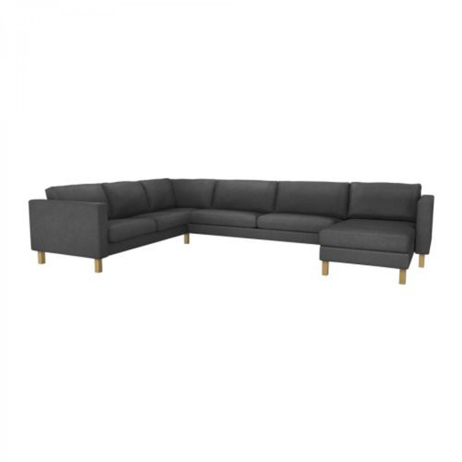 corner sofa with chaise dune furniture village ikea karlstad slipcover cover