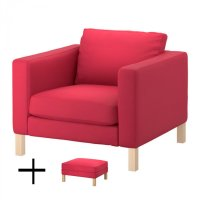 IKEA KARLSTAD Armchair and Footstool SLIPCOVERS Chair ...