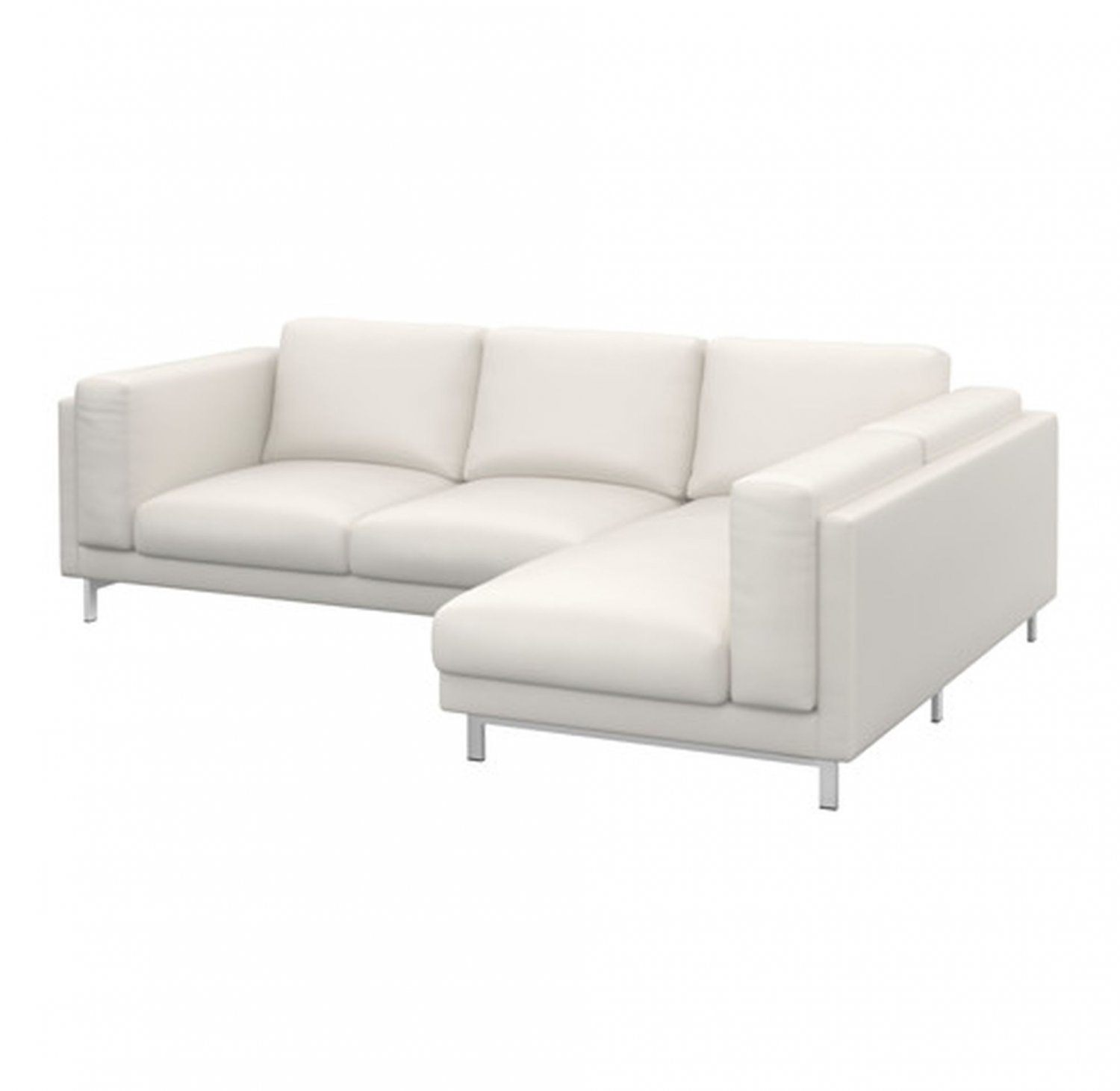 Ikea Sofa Nockeby Test Ikea Nockeby Slipcover Loveseat W Chaise Right Cover