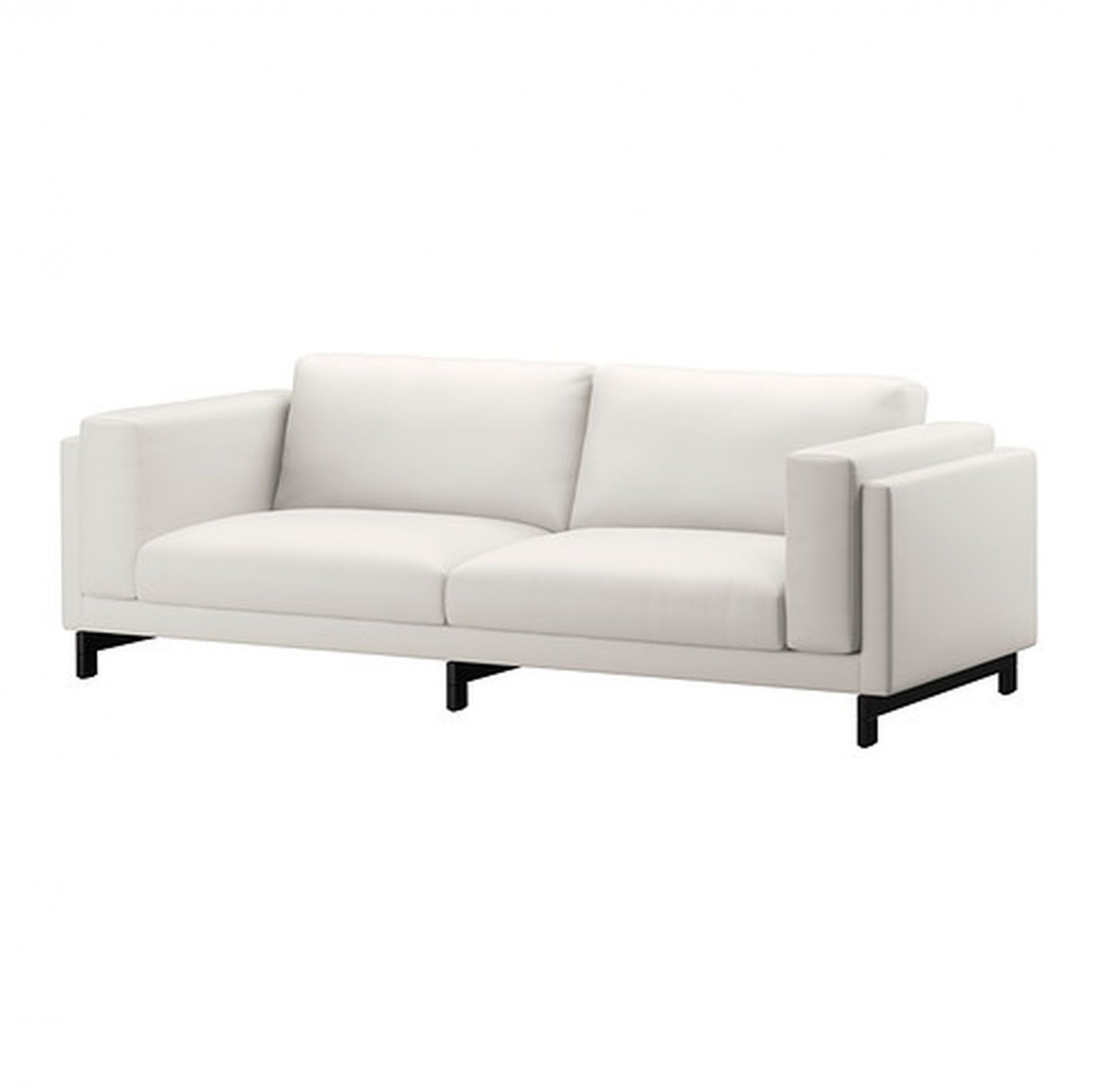 linen bench cushion sofa dwr theatre used ikea nockeby 3 seat slipcover cover risane white