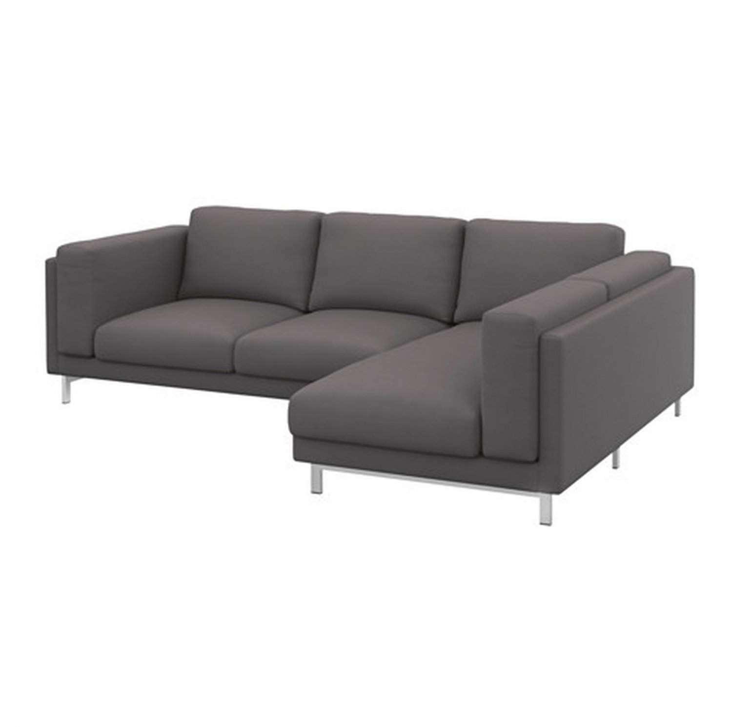 gray linen sofa slipcover modern replacement legs ikea nockeby loveseat w chaise right cover