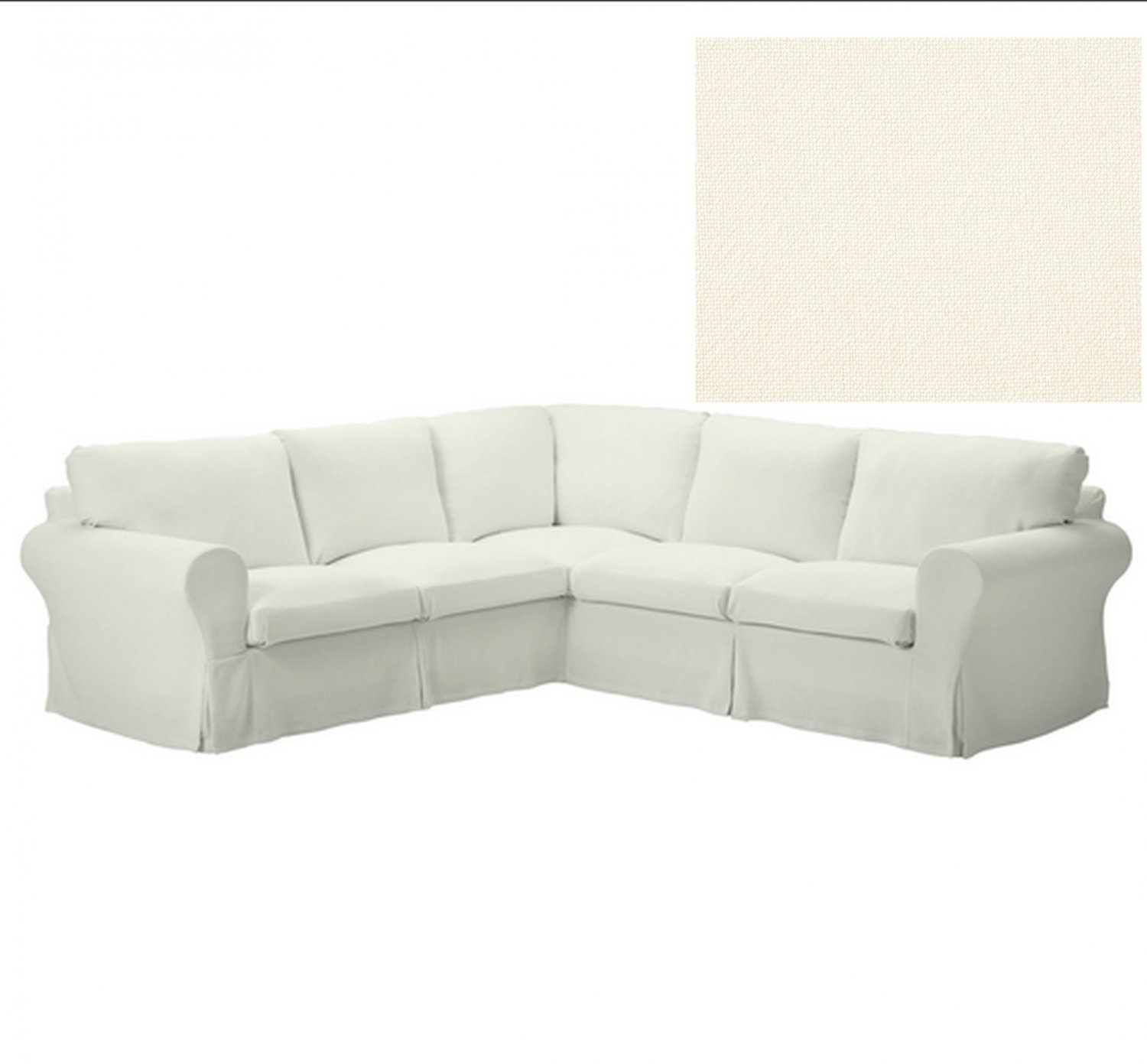 off white slipcover sofa modern cloth set designs ikea ektorp 2 432 corner stenasa