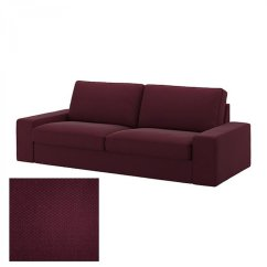 Purple Sleeper Sofa Slipcover Wicker Outdoor Furniture Lounge Ikea Kivik 3 Seat Cover Dansbo Red Lilac