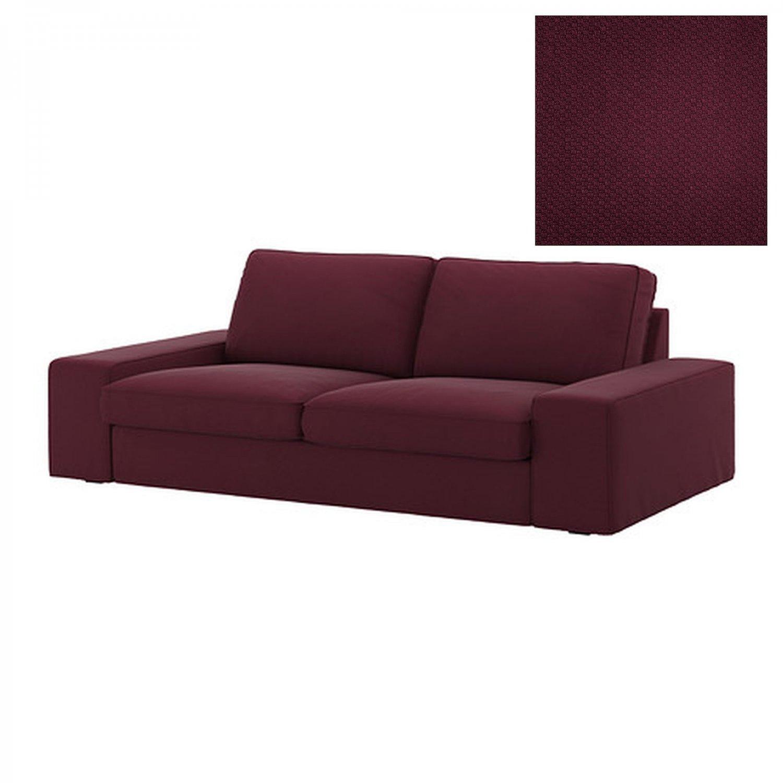 ikea purple sofa costco sofas sectionals kivik 2 seat slipcover loveseat cover dansbo red