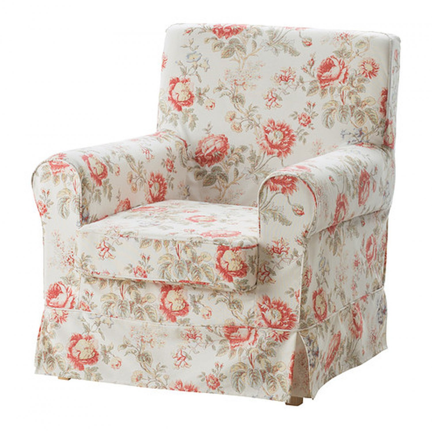 Chair Cover Patterns Ikea Ektorp Jennylund Armchair Slipcover Chair Cover Byvik Multi Floral Rose Peony Romantic