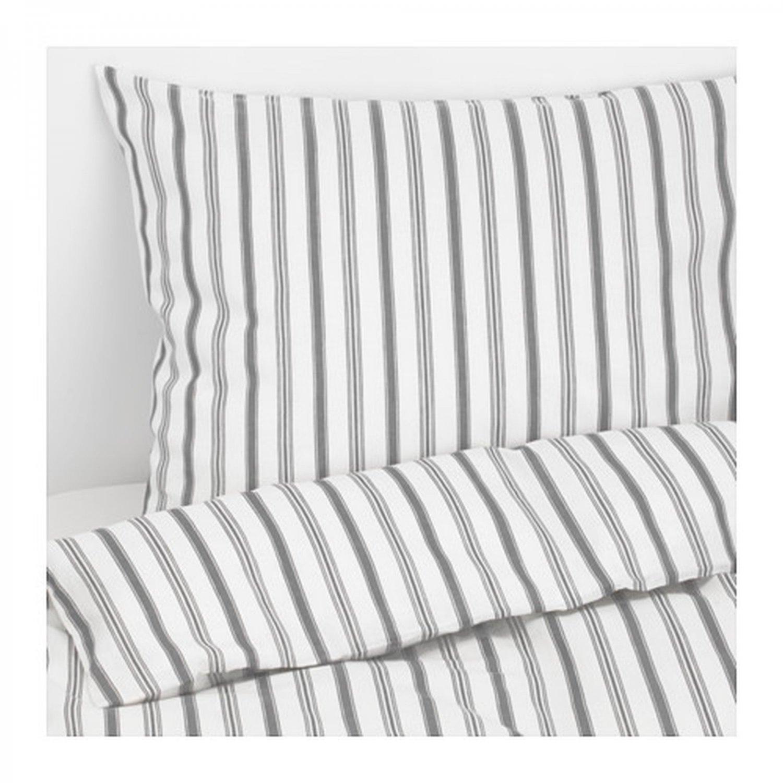 IKEA Hostoga KING DUVET COVER Pillowcases Set TICKING