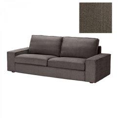 Linen Sofa Slipcover Sorrento Next Ikea Kivik 3 Seat Cover Tullinge Gray Brown ...